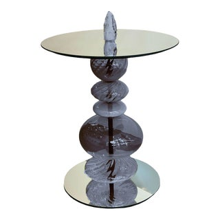 Abacus Ink Blue Accent Table For Sale