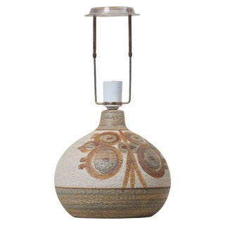 Ceramic Table Lamp by Soholm, Denmark 'Marked' For Sale