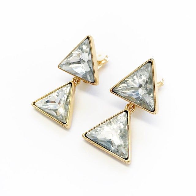Kenneth Jay Lane Triangle Dangling Earrings by Kenneth Jay Lane For Sale - Image 4 of 4