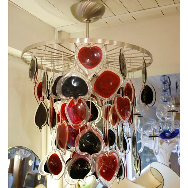 Cenedese Poker Chandelier For Sale - Image 6 of 7