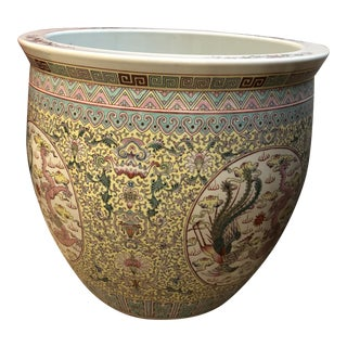 Large Ceramic Chinese Planter For Sale