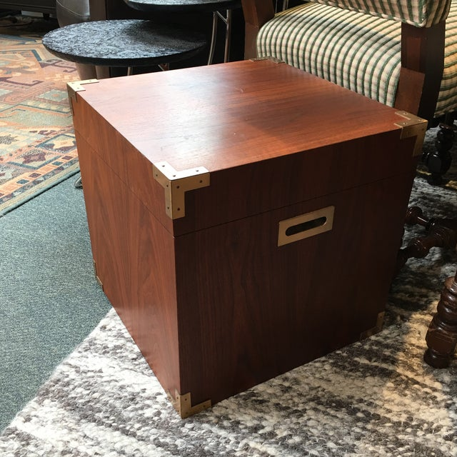 Campaign Style Storage Cube Side Table - Image 7 of 9