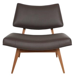 Jari Walnut Slipper Chair For Sale