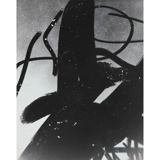 """Barbara Lewis """"Smoked Glass"""" Framed Abstract Black and White Photograph, 1969 For Sale"""