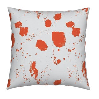 Splat Clementine Pillow by Kerri Rosenthal