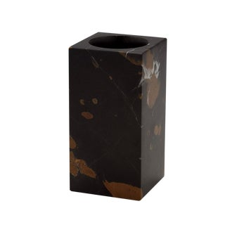 Black & Gold Marble Tumbler For Sale