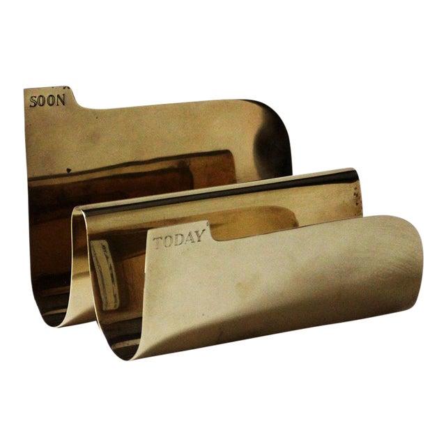 Vintage Brass Sarreid Letter Holder For Sale