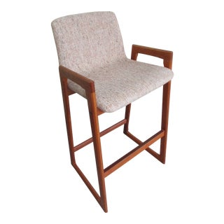 Danish Modern Teak Bar Stool