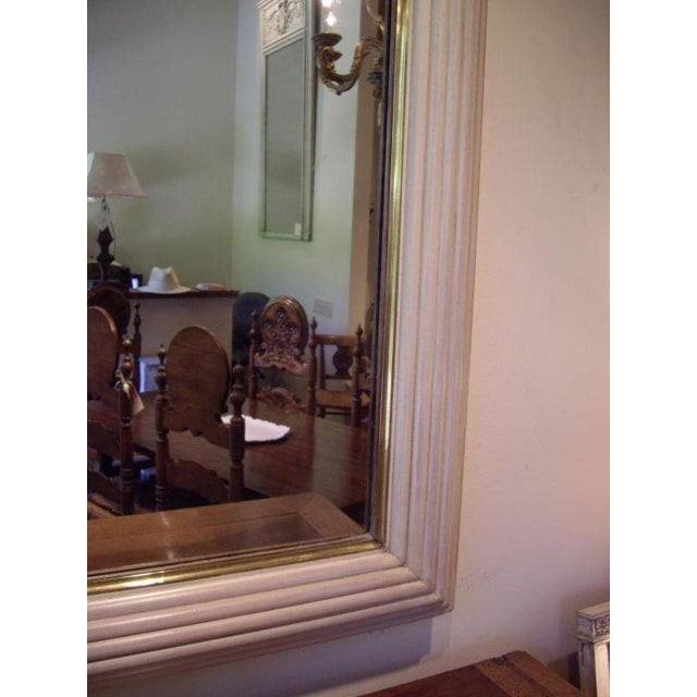 Off-white French Art Deco/ Moderne Mirror For Sale - Image 8 of 10