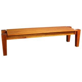 Rob Edley Welborn Spanish Cedar Prototype Bench or Coffee Table For Sale