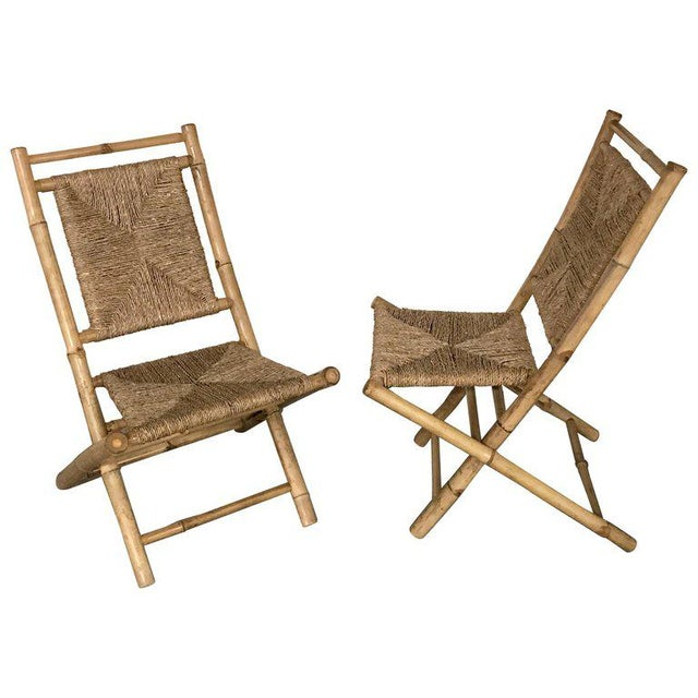 Pair of Faux Bamboo Campaign Chairs in the Manner of Maison Jansen For Sale - Image 9 of 9