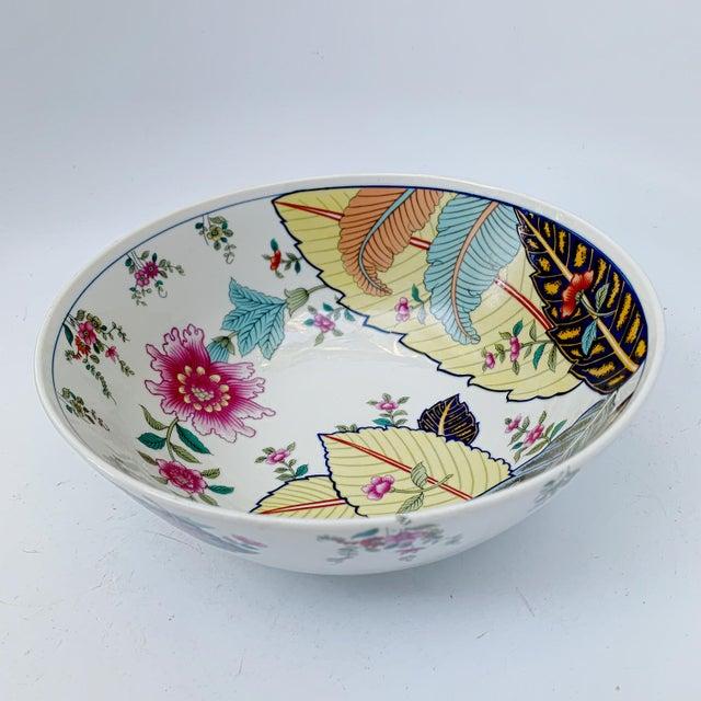 Vintage Tobacco Leaf Fine China Medium Salads Serving Bowl For Sale - Image 13 of 13