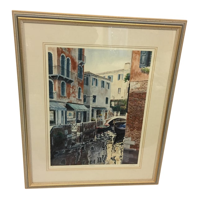 """Venice Scene"" Artist Proof Signed Lithograph For Sale"