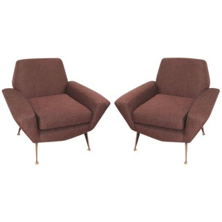 Italian Mid-Century Lounge Chairs Attributed to Radice For Sale