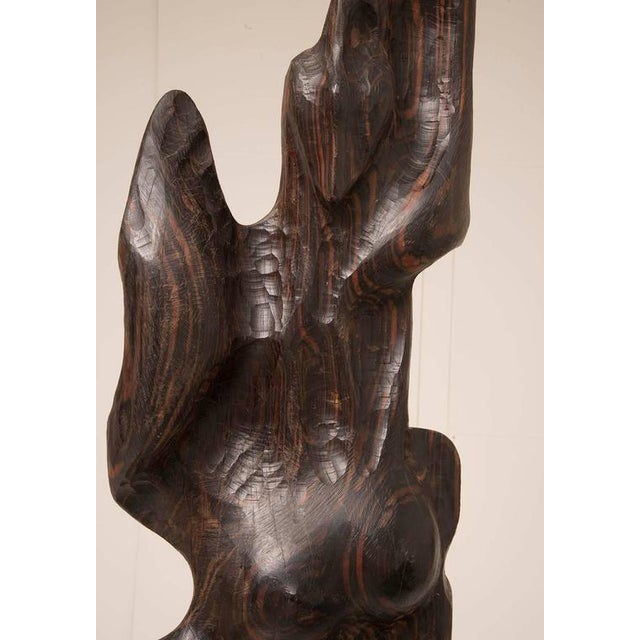Monumental 1960s Macassar Ebony Sculpture For Sale - Image 4 of 12
