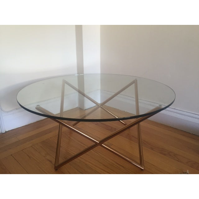 Glass and Gold Coffee Table - Image 2 of 3