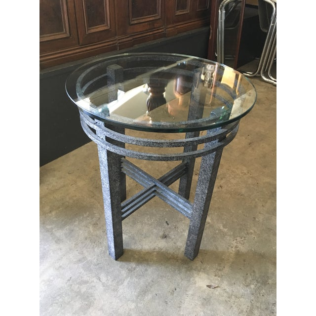 1980s Post Modern Sculptural Side Table For Sale - Image 11 of 11
