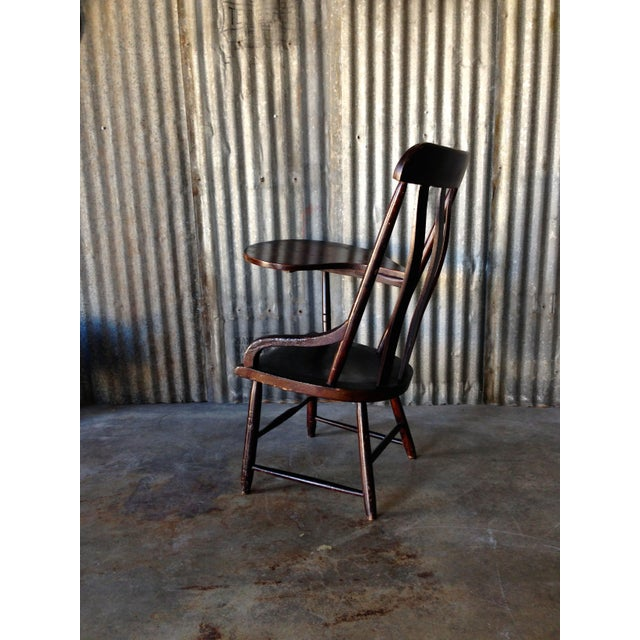 Early New England Windsor Writing Chair - Image 5 of 9