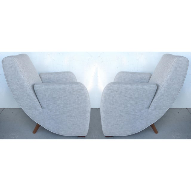 Mid-Century Modern Upholstered Club Chairs-a Pair - Image 10 of 10