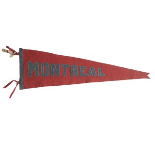 Antique Montreal Felt Flag Pennant