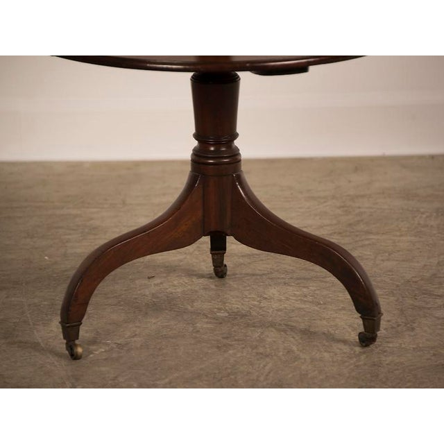 Brown George III Period Mahogany Pedestal Table, England circa 1820 For Sale - Image 8 of 8