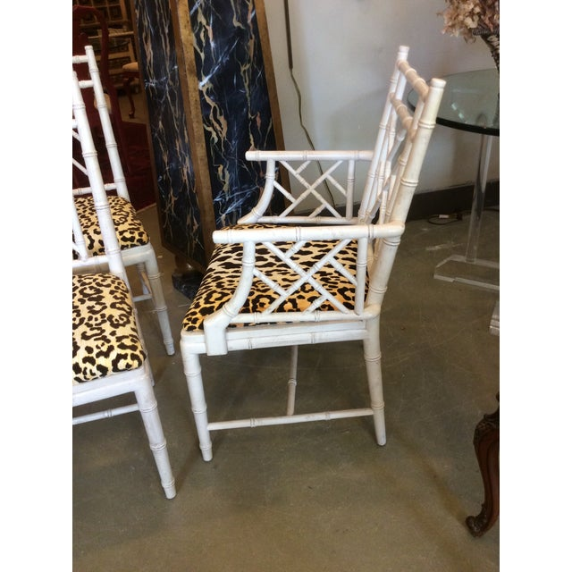 Faux Bamboo Dining Chair - Set of 4 For Sale In Tampa - Image 6 of 13