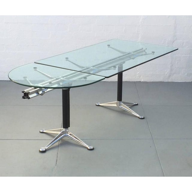 Glass and Aluminum Table Designed by Bruce Burdick for Herman Miller For Sale - Image 9 of 9