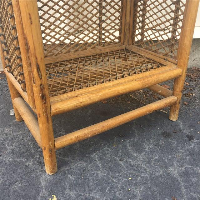 Vintage Rattan Shelf For Sale - Image 4 of 8