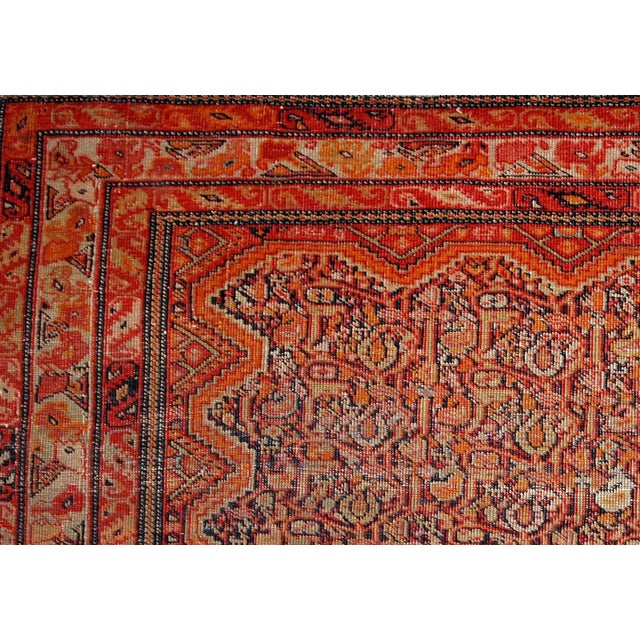 Handmade antique collectible Persian Mishan Malayer rug. This fine-weaved rug made in the end of 19th century and it is in...