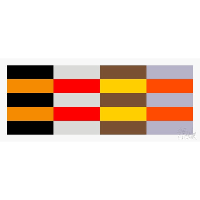 """Four Moods Eight Colors Fine Art Print 15"""" X 36 1/2"""" by Liz Roache For Sale"""