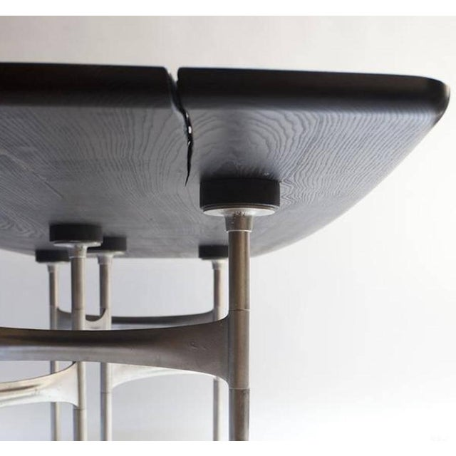 2010s Link Dining Table Wood and Steel by AKMD Collection For Sale - Image 5 of 9