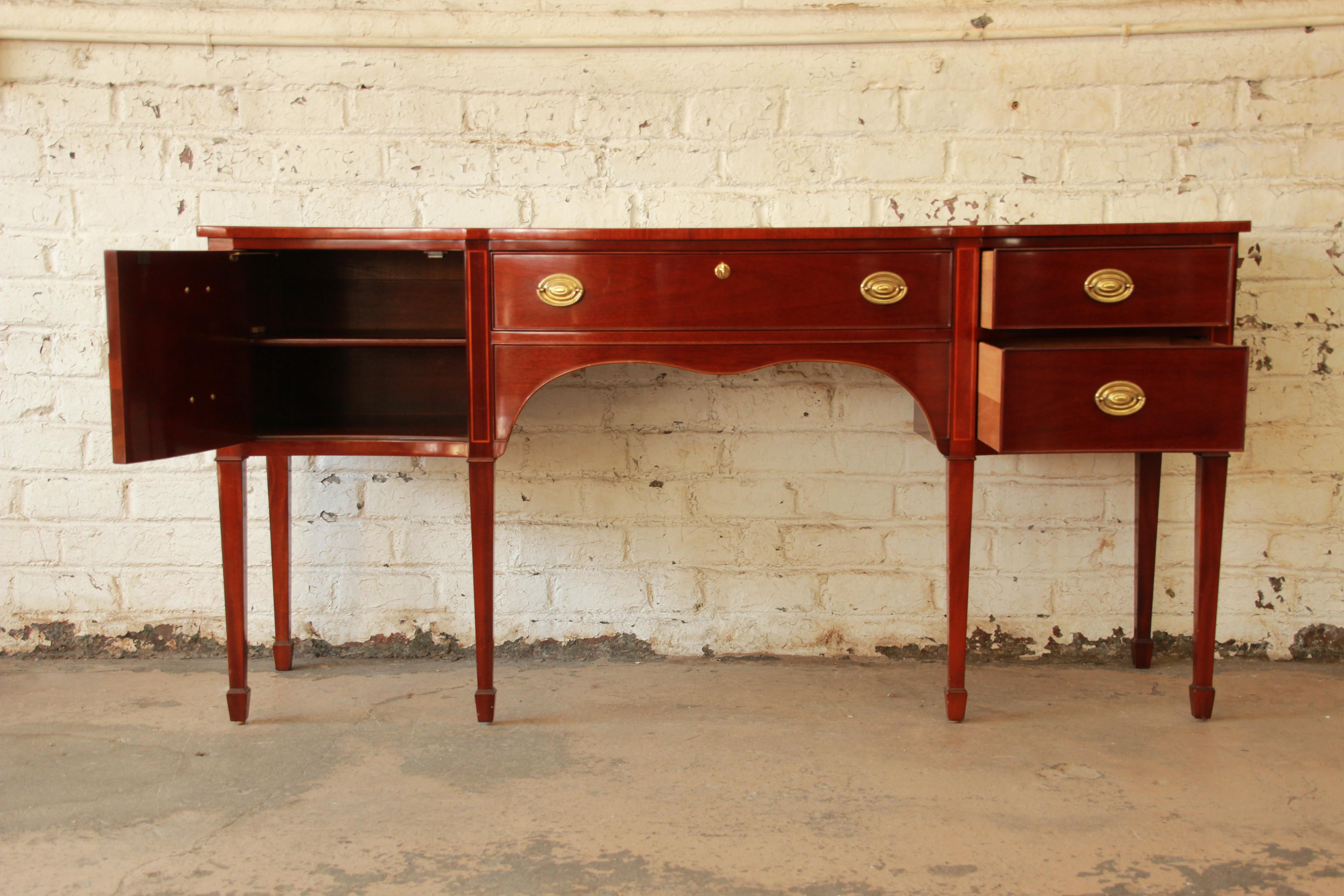 Kindel Furniture Winterthur Inlaid Mahogany Sideboard Buffet   Image 2 Of 11