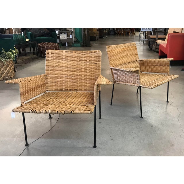 Van Keppel Green Rattan & Iron Chairs - A Pair - Image 2 of 11
