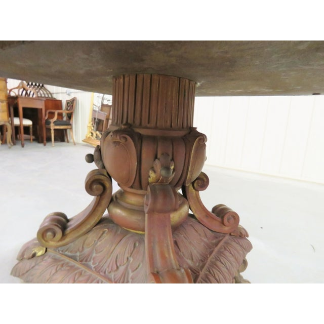 Ornate French Bronze Marble Top Center Table - Image 4 of 4