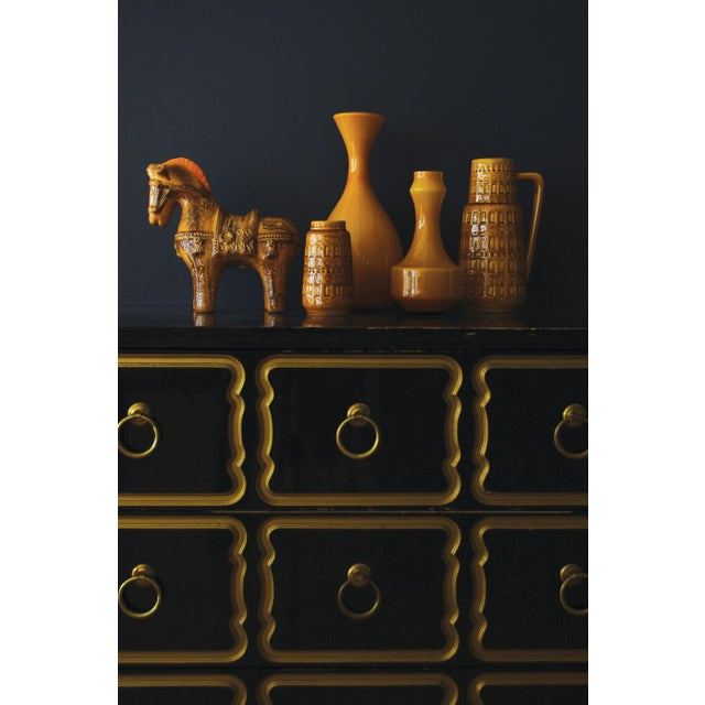 Yellow 1960s Mid-Century West German Scheurich Keramik Inka Mustard Ceramic Vase For Sale - Image 8 of 8