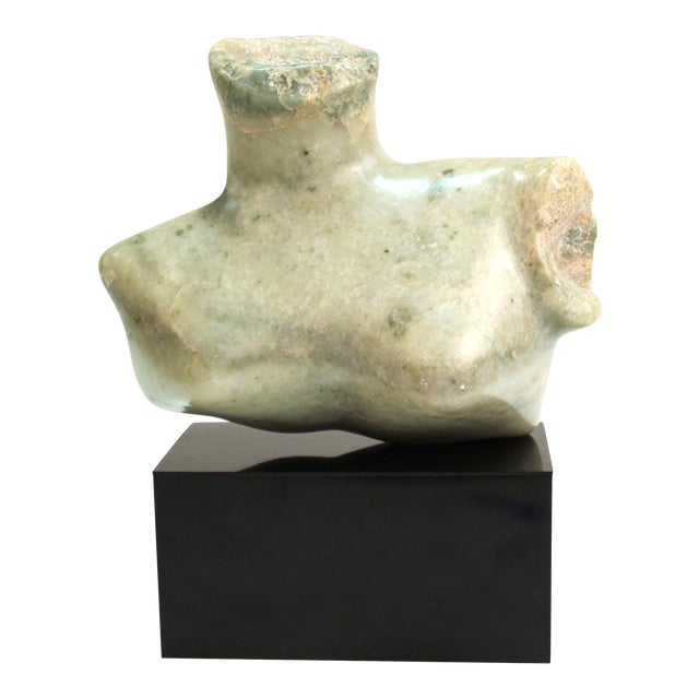 Mid-Century Modern Abstract Carved Stone Female Bust Sculpture For Sale