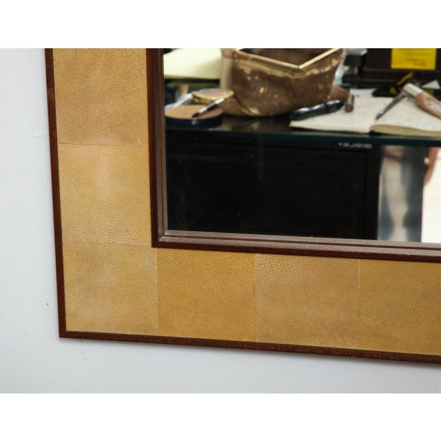 Not Yet Made - Made To Order Rectangular Shagreen Mirror For Sale - Image 5 of 7
