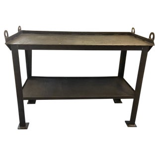 1920s Industrial Cast Iron Welder's Workbench For Sale