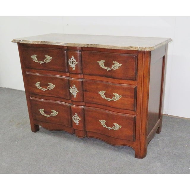Hickory Chair Co. Louis XV Style Marbletop Chest For Sale - Image 9 of 9