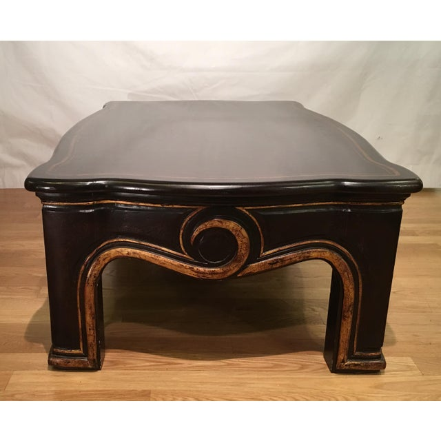 Gregorius Pineo Gregorius Pineo Black & Gold Morrison Coffee Table For Sale - Image 4 of 6