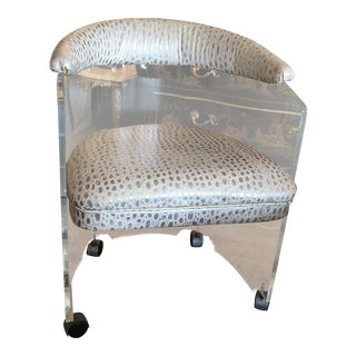 Charles Hollis Jones Lucite Chair