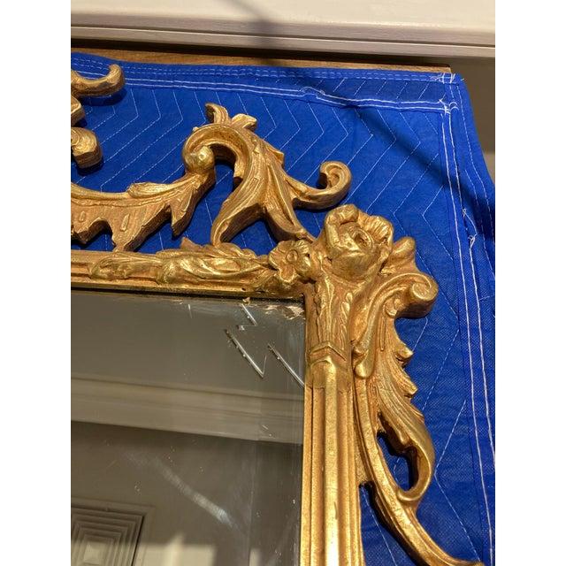 Large Vintage 1940s Gold Framed Mirror For Sale In Detroit - Image 6 of 8