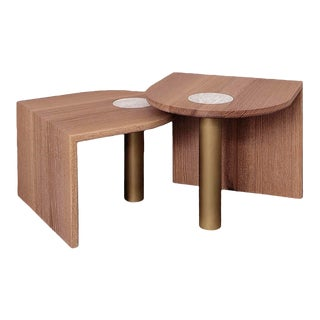 Volk St. Charles Occasional Tables Offset Heights-A Pair For Sale