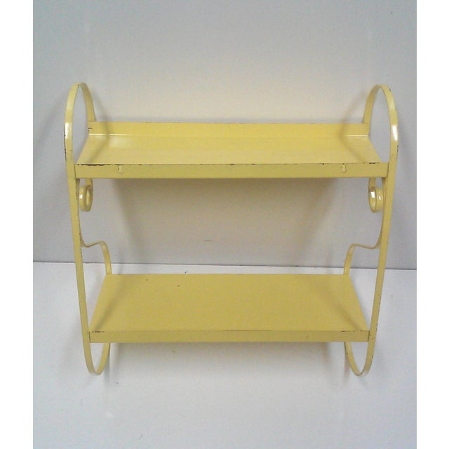 Vintage Hand Painted Yellow Wall Shelf - Image 5 of 6