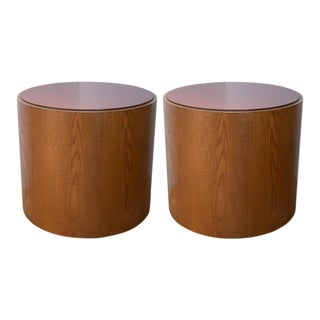 A Pair of 1970s Wood and Laminate End Tables