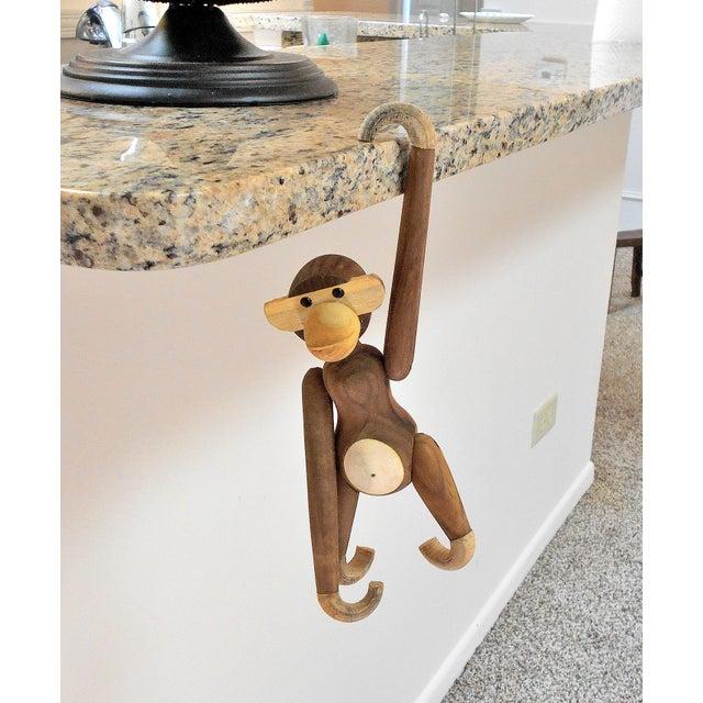 Vintage Carved Wooden Hanging Monkey - Image 7 of 10