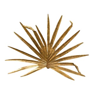 Gold Palm Leaf Firescreen For Sale
