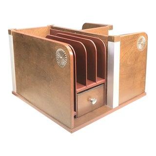 Vintage Mid Century Rotating Desktop Organizer For Sale