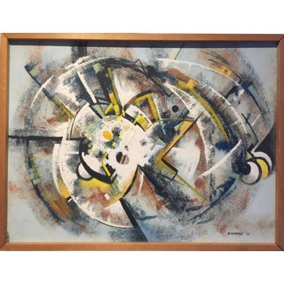 """1968 Abstract Expressionist Signed Painting """"Bumblebees"""" For Sale"""