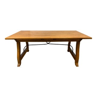 Indonesian Baroque Style Trestle Table For Sale